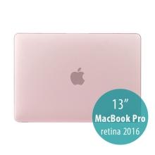 Obal / kryt pro MacBook Pro 13 Retina 2016 / 2017 (A1706, A1708) - plastový - tmavě růžový