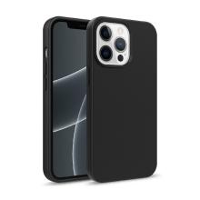 Kryt pro Apple iPhone 13 Pro Max - slaměné kousky - gumový - černý