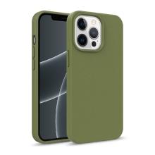 Kryt pro Apple iPhone 13 Pro Max - slaměné kousky - gumový - olivově zelený