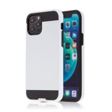 Kryt pro Apple iPhone 12 / 12 Pro - broušený povrch - plastový / gumový - černý / bílý