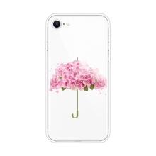 Kryt pro Apple iPhone 7 / 8 / SE (2020) - gumový - růžičkový deštník