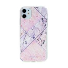 Kryt BABACO pro Apple iPhone 11 - gumový - růžový mramor