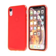 Kryt pro Apple iPhone Xr - gumový - průhledný - červený