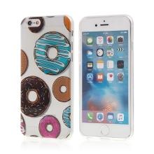 Kryt pro Apple iPhone 6 / 6S gumový - průhledný - donuty