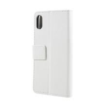 Pouzdro pro Apple iPhone X - stojánek + prostor pro platební karty - bílé