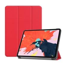 """Pouzdro / kryt pro Apple iPad Pro 12,9"""" (2018) - funkce chytrého uspání + stojánek - umělá kůže - červené"""