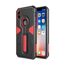 Kryt NILLKIN Defender pro Apple iPhone X - odolný - plast / guma - černý / červený
