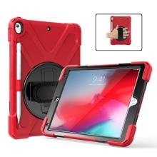 "Pouzdro pro Apple iPad Air 10,5"" 2019 / Pro 10,5"" - outdoor / odolné - stojánek + rukojeť / poutko - červené"