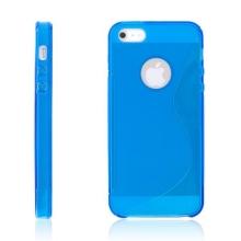 Protiskluzový ochranný kryt S line pro Apple iPhone 5 / 5S / SE - modrý