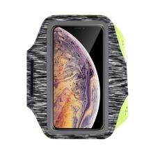 Sportovní pouzdro DEVIA pro Apple iPhone včetně velikostí Plus a Max - reflexní prvky - černé