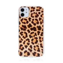 Kryt BABACO pro Apple iPhone 11 - gumový - leopardí vzor