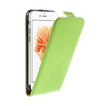Pouzdro pro Apple iPhone 6 / 6S - flipové - kožené - zelené