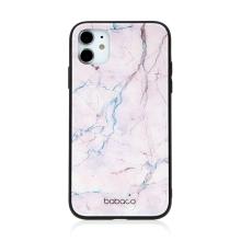 Kryt BABACO pro Apple iPhone 11 - skleněný - růžový mramor