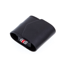 Pouzdro / obal pro Apple AirPods - umělá kůže - poutko na zavěšení + karabina - černé