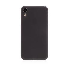 Kryt / obal pro Apple iPhone Xr - ochrana čočky - ultratenký - plastový - matný - tmavě šedý