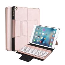 Klávesnice Bluetooth odnímatelná + kryt / pouzdro pro Apple iPad Air 1 / Air 2 / Pro 9,7 / 9,7 (2017) - Rose Gold