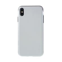 Kryt MERCURY Sky slide pro Apple iPhone Xs Max - prostor pro platební karty - plastový / gumový - černý / stříbrný