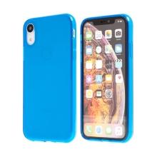 Kryt pro Apple iPhone Xr - gumový - průhledný - modrý