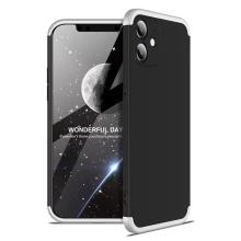 Kryt pro Apple iPhone 12 mini - 360° ochrana - plastový - černý / bílý