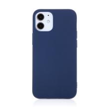 Kryt FORCELL Soft pro Apple iPhone 12 mini- gumový - tmavě modrý
