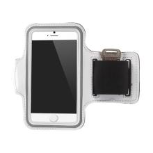 Sportovní pouzdro pro Apple iPhone 6 / 6S - bílé s reflexním pruhem
