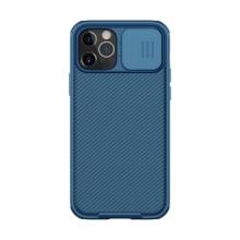Kryt NILLKIN CamShield pro Apple iPhone 12 / 12 Pro - MagSafe magnety + krytka kamery - tmavě modrý