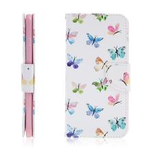 Pouzdro / kryt pro Apple iPhone 6 Plus / 6S Plus - prostor pro doklady / stojánek - motýli