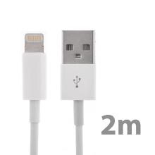 Synchronizační a nabíjecí kabel Lightning pro Apple iPhone / iPad / iPod - bílý - 2m