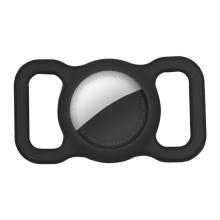 Kryt pro Apple AirTag - spona na batoh / psí obojek - silikonový - černý