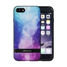 Kryt DZGOGO pro Apple iPhone 7 / 8 - plast / umělá kůže - modré / růžové tvary
