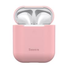 Pouzdro / obal BASEUS pro Apple AirPods - silikonové - růžové