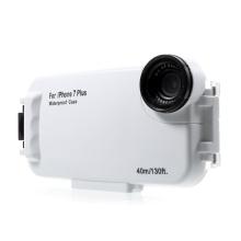 Pouzdro vodotěsné pro Apple iPhone 7 Plus / 8 Plus s odolností do 40m hloubky (IPX8) - průhledné / bílé