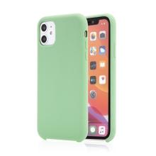 Kryt pro Apple iPhone 11 - příjemný na dotek - silikonový - mátově zelený
