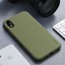 Kryt IPAKY pro Apple iPhone Xr - gumový - khaki zelený