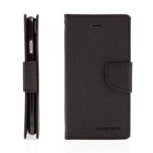 Pouzdro Mercury Fancy Diary pro Apple iPhone 7 / 8 / SE (2020) - stojánek a prostor na doklady - černé