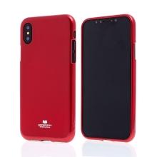 Kryt MERCURY Jelly Case pro Apple iPhone X - gumový - červený - lesklý