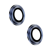 Tvrzené sklo (Tempered Glass) + hliníkový kroužek pro Apple iPhone 12 / 12 mini - na čočku kamery - modré