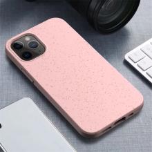 Kryt pro Apple iPhone 12 / 12 Pro - slaměné kousky - gumový - růžový