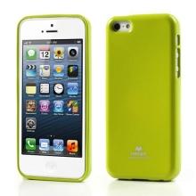 Gumový kryt Mercury pro Apple iPhone 5C - jemně třpytivý - zelený