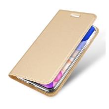 Pouzdro DUX DUCIS pro Apple iPhone 11 - stojánek + prostor pro platební kartu - zlaté