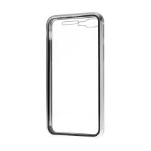 Kryt pro Apple iPhone 7 Plus / 8 Plus - 360° ochrana - magnetické uchycení - skleněný / kovový - černý