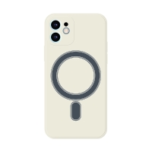 Kryt pro Apple iPhone 12 - Magsafe - silikonový - bílý