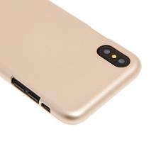 Kryt MERCURY Jelly Case pro Apple iPhone X - gumový - zlatý - lesklý