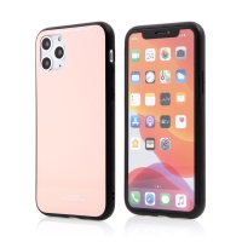 Kryt FORCELL Glass pro Apple iPhone 11 Pro - gumový / skleněný - růžový