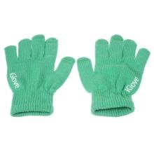 Rukavice IGLOVE pro ovládání dotykových zařízení - zelené