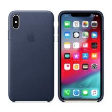 Originální kryt pro Apple iPhone Xs Max - kožený - tmavě modrý