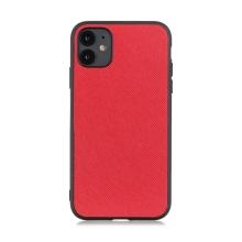 Kryt pro Apple iPhone 12 / 12 Pro - plastový / umělá kůže - červený