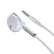 Sluchátka LENOVO s tlačítkem a mikrofonem pro Apple zařízení - bílá