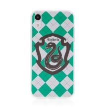 Kryt Harry Potter pro Apple iPhone Xr - gumový - emblém Zmijozelu