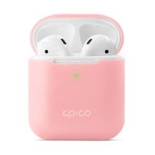 Pouzdro / obal pro Apple AirPods 2019 s bezdrátovým pouzdrem EPICO - silikonové - růžové